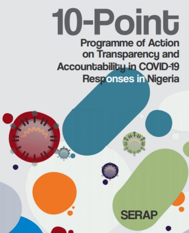10 Point Programme on Accountability and transparency on Covid 19 in Nigeria